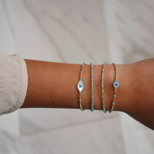 Aqua Eyes Bracelets