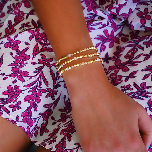 Ambrosia Pink Golden Orb Bracelet