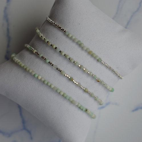 Jade Bracelets - Silver