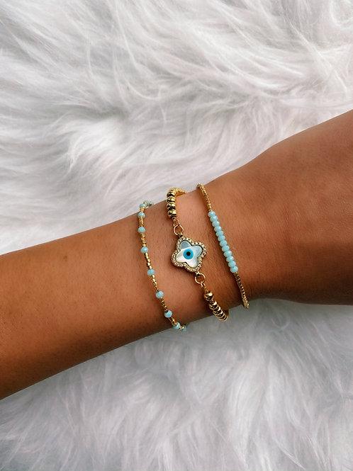 Frosted Clover Bracelet
