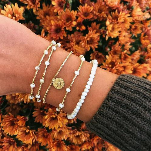 Alana White Crystal Bracelets