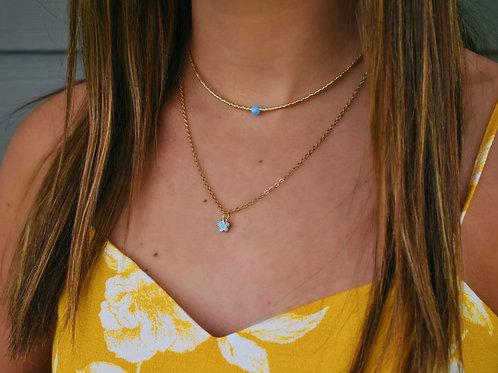 Hydrangea Blue Butterfly Chain
