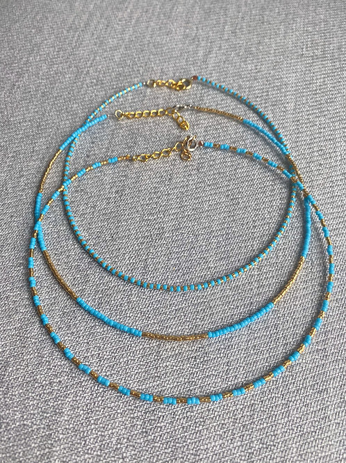 Simple Blue Chokers