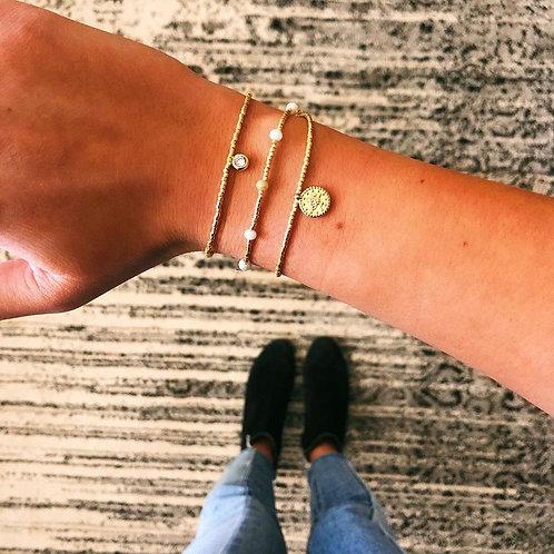 Danielle Round Crystal Charm Bracelet