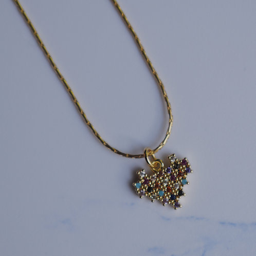Pixelated Love Necklace