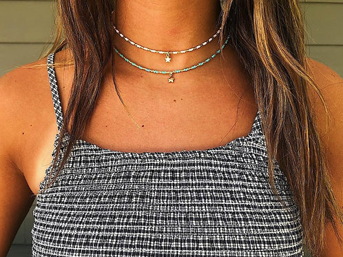 Star w/ Color Accents Choker