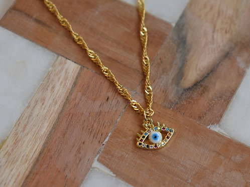 Colored Eyes Necklace