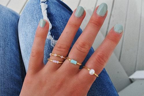 Gold Rose Rings