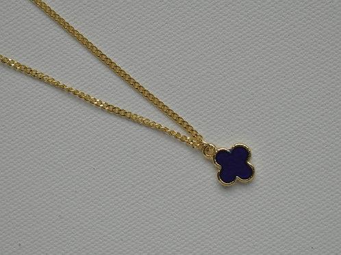 Midnight Clover Necklace