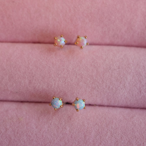 Cotton Candy Opal Studs