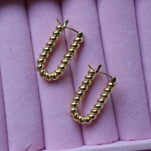 Gold Croissant Hoops