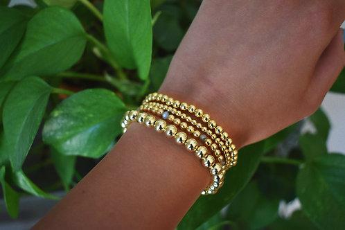 Lisa Golden Orb Bracelets