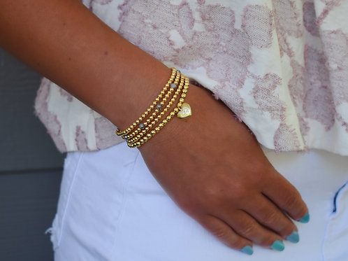 Lotus Golden Orb Bracelets