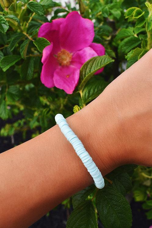 Gillian Sky Blue Clay Disc Bracelet