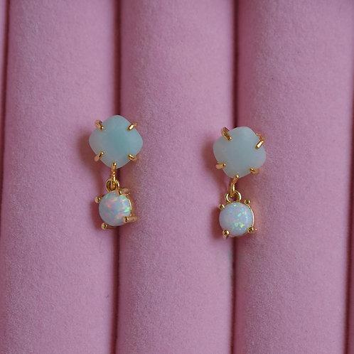 Mint Opal Studs