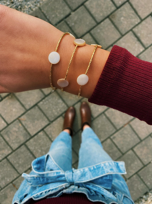 Pearl Disc Bracelet