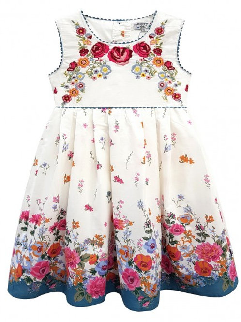 Baby / Toddlers Floral Border Print Sun Dress