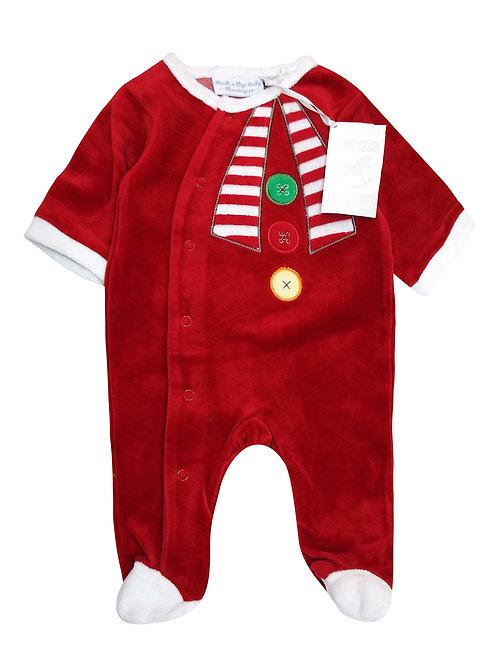 Baby Festive Velour Sleepsuit