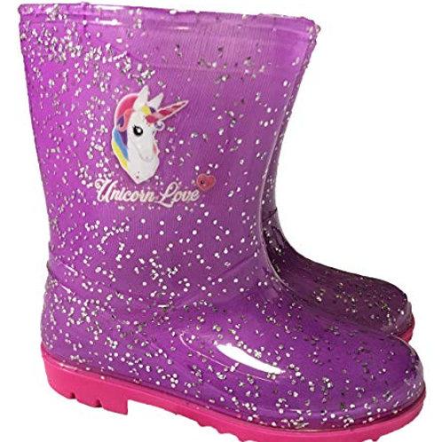 Unicorn Glitter Wellies