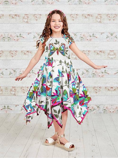 Butterfly Print Hanky Dress