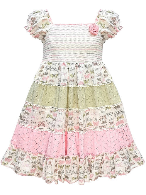 Toddlers Butterfly Print Gypsy Dress