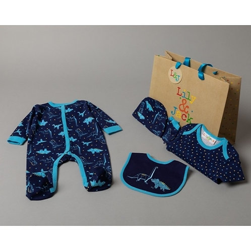 Baby Boys Dinosaur Gift Bag Set