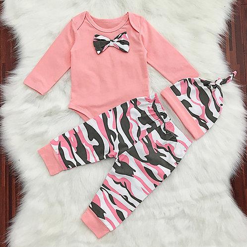 Pink Camo Baby Set