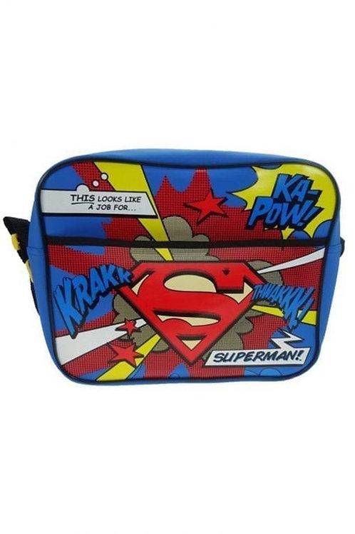 Official DC Comics Superman Character Boys Kids Satchel Tote Messenger