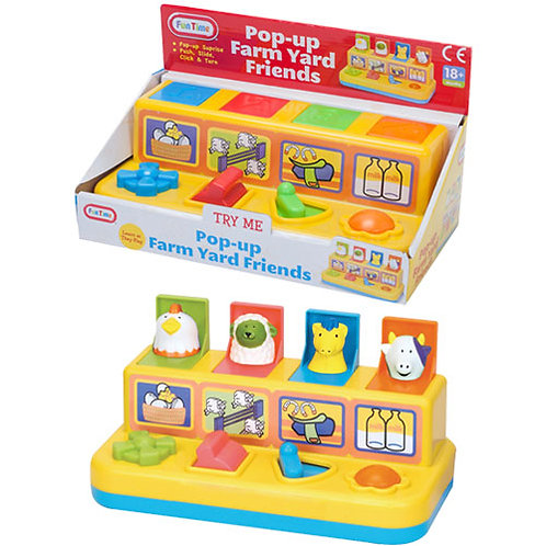 Pop Up Farm Yard Friends Learning Toy