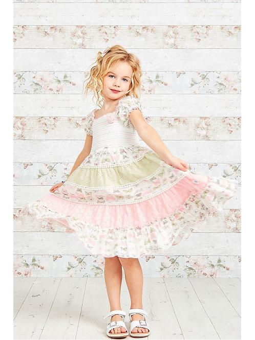 Butterfly Print Layered Girls Gypsy Dress