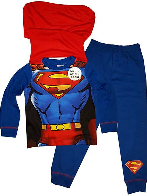 Superman Pyjamas With Removable Cape