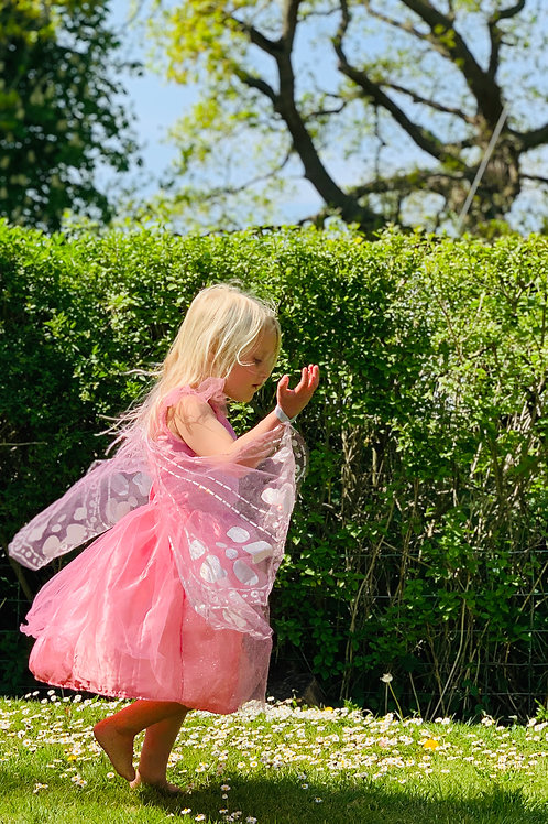 Girls Fairy Dress with Detachable Wings