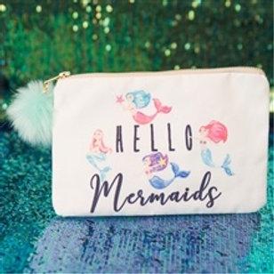 Hello Mermaids Canvas Purse
