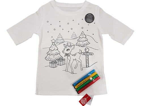 Colour in Christmas T-shirts and Fabric Pens