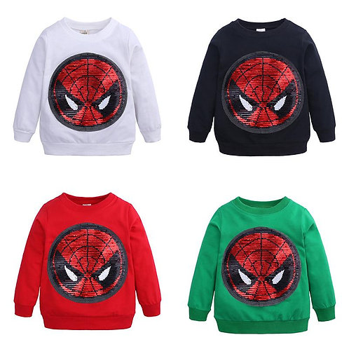 Spider Man and Captain America Reversible Sequin Jumper