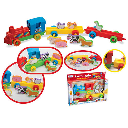 Farm Train Set With Play Animals