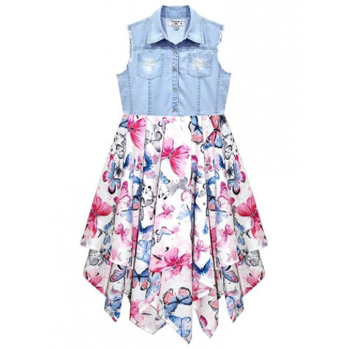 Beautiful Butterfly Print Hanky Dress