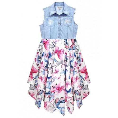 Beautiful Butterfly Print Hanky Dress