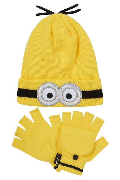 Minion Hat and Gloves Set