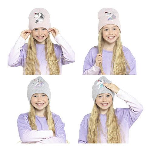 Unicorn Reversible Sequins Warm Hat