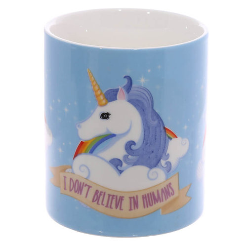 I don't believe in Humans Unicorn Mug