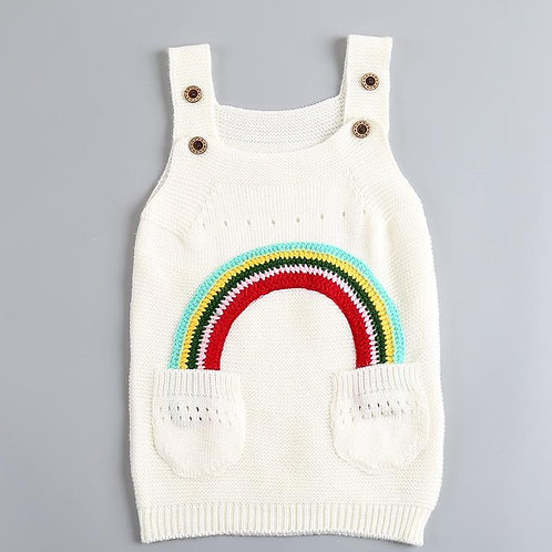 Rainbow Pinafore with Pockets