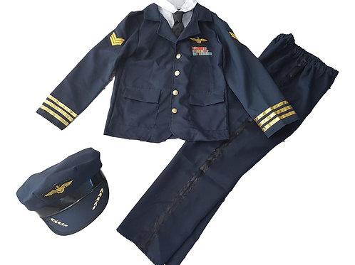 Pilot / Officer Fancy Dress Costume 3 Part Set
