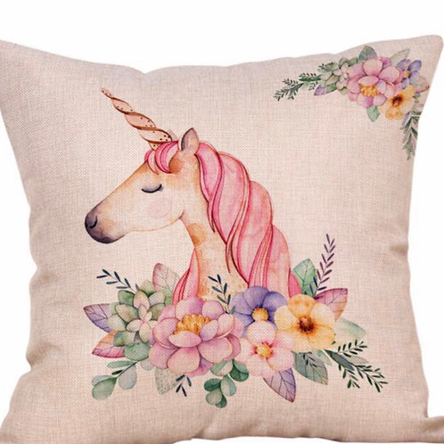 Stunning Vintage Style Unicorn Cushion Covers 4 Different Designs
