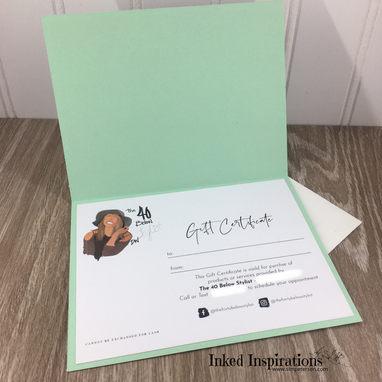 Gift Certificate Custom Design