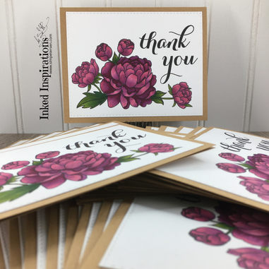 Peony Thank You Cards