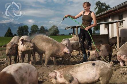 Kathrin Tritten, Teilzeitbäuerin - Portrait 100 Bauern für die Schweizer Illustrierte