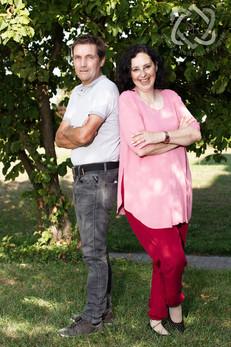 Ingrid & Dani Bumann, Koch und Fernsehmoderator - Portrait für die Glückspost