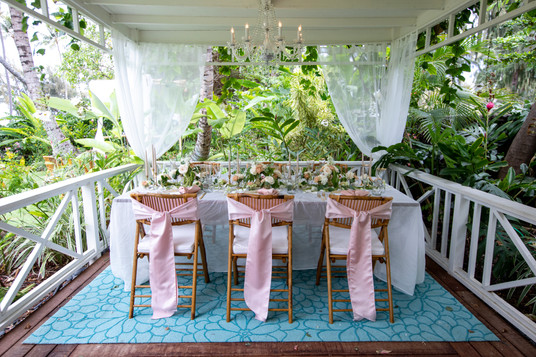 Intimate wedding setting