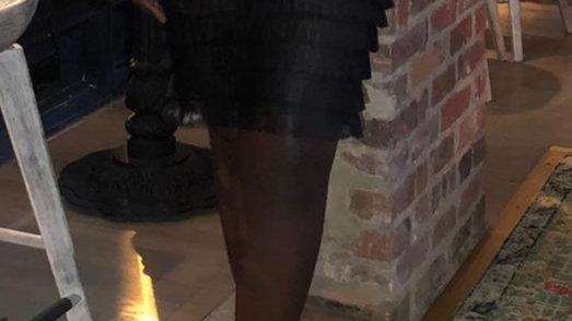 Sexy Black Mesh Skirt